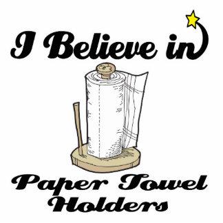 creo en tenedores de la toalla de papel esculturas fotográficas