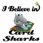 creo en tiburones de tarjeta escultura fotografica