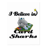 creo en tiburones de tarjeta tarjetas postales