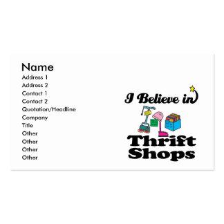 creo en tiendas de ahorro tarjetas de visita
