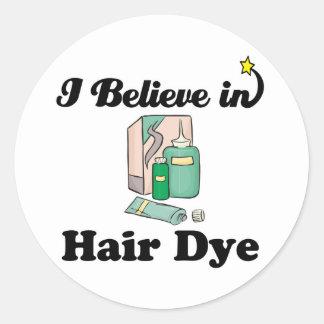 creo en tinte de pelo pegatina redonda