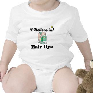 creo en tinte de pelo traje de bebé