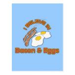 Creo en tocino y huevos postal