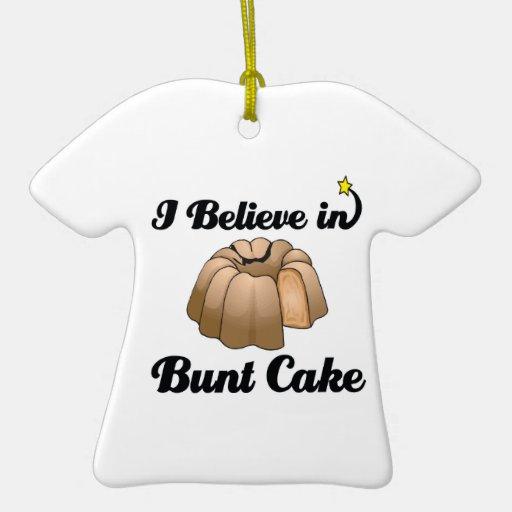 creo en torta del seno adorno navideño de cerámica en forma de playera