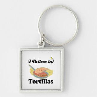 creo en tortillas llavero personalizado
