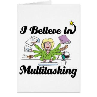 creo en trabajos múltiple tarjeta de felicitación