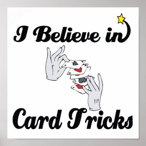 creo en trucos de cartas póster