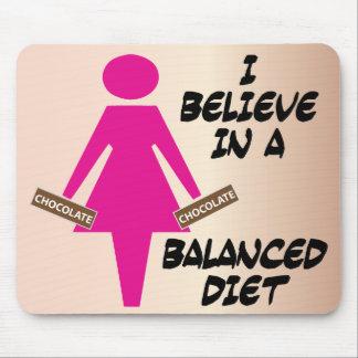 Creo en un cojín de ratón de la dieta equilibrada alfombrillas de ratones