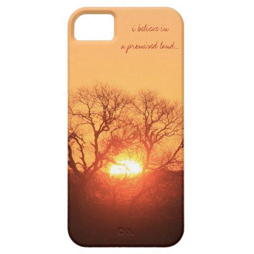 Creo en una tierra prometida; Salida del sol del i iPhone 5 Case-Mate Funda