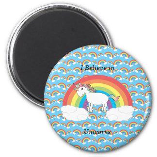 Creo en unicornios imán redondo 5 cm