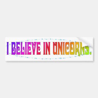 Creo en unicornios pegatina para auto