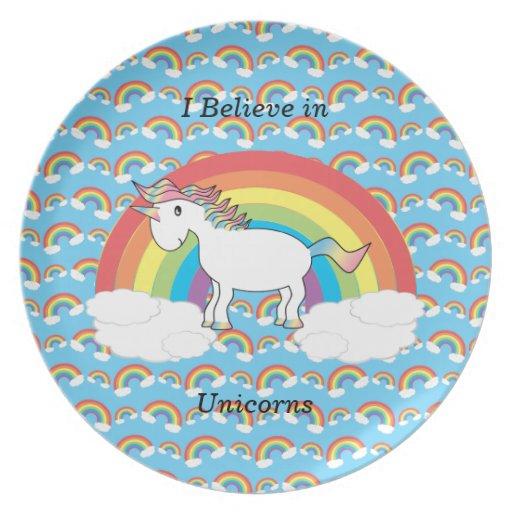 Creo en unicornios platos de comidas