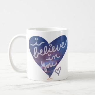 Creo en usted la taza de café