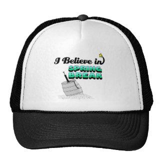 creo en vacaciones de primavera gorras