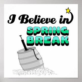 creo en vacaciones de primavera impresiones
