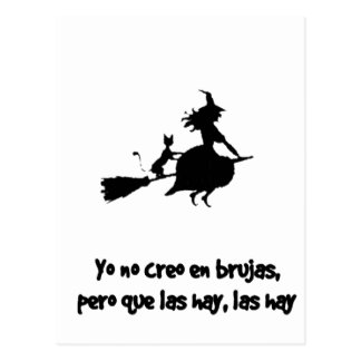 CREO EN WOOLS BRUJAS not I DO NOT BELIEVE WITCHES Postcard