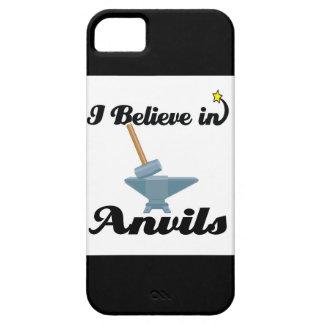 creo en yunques iPhone 5 protectores
