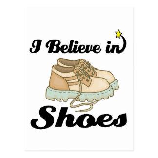 creo en zapatos tarjetas postales