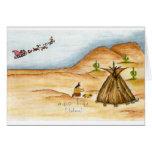 Creo la acuarela cherokee de la tarjeta de Navidad