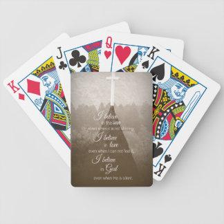 Creo la cruz baraja de cartas