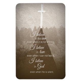 Creo la cruz imanes rectangulares