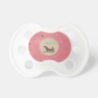 Creo las estrellas del rosa del trineo de Santa Chupetes Para Bebés