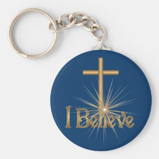 Creo llavero de la cruz de la estrella del oro