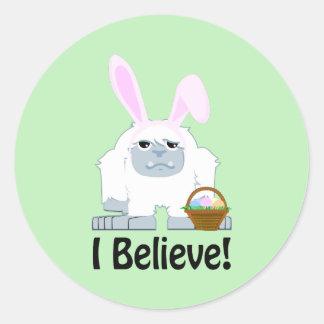 ¡Creo! Pascua Yeti Pegatina Redonda