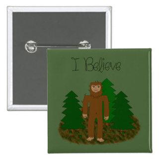Creo que - Bigfoot - cambie el color Pin Cuadrado