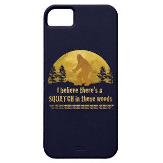 Creo que hay SQUATCH en estas maderas iPhone 5 Case-Mate Protectores
