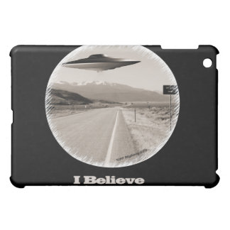 """Creo"" retro - negro del caso del iPad del UFO del"