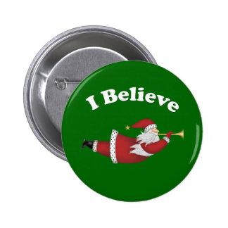 Creo Santa que vuela Pins