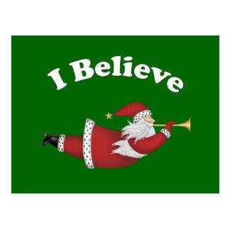 Creo Santa que vuela Tarjetas Postales