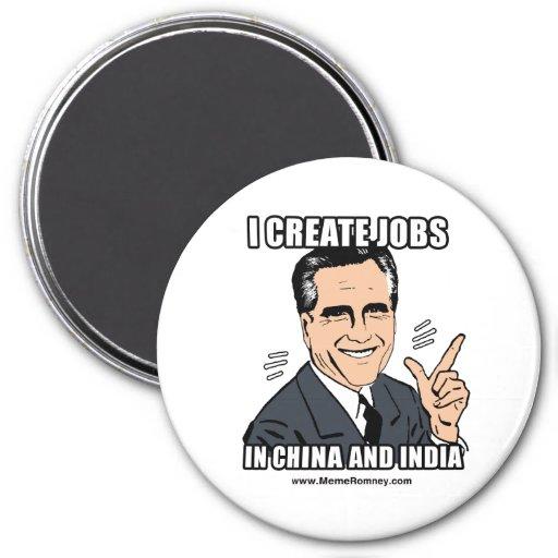 CREO TRABAJOS EN CHINA Y LA INDIA IMANES DE NEVERA