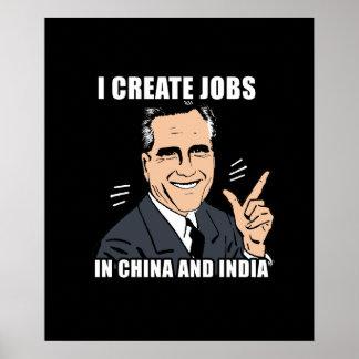 Creo trabajos en China y la India Impresiones