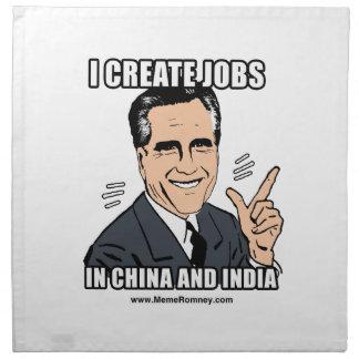 CREO TRABAJOS EN CHINA Y LA INDIA SERVILLETA