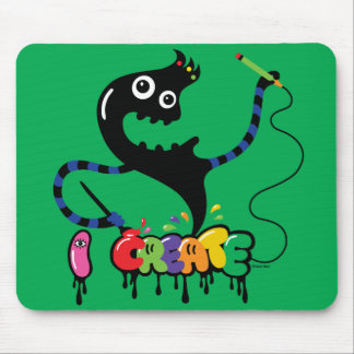 creo verde urbano fresco del mousepad del monstruo tapete de ratón