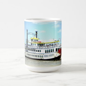 Coffee Themed Creol Queen Steamboat  New Orleans  Mug