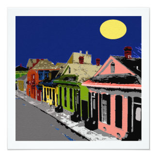 Creole Cottage New Orleans Full Moon Card