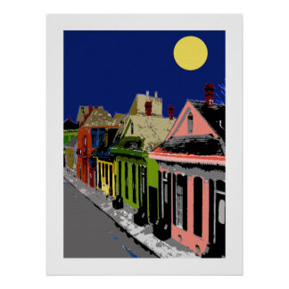 Creole Cottage New Orleans Full Moon Posters