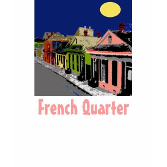 Creole Cottage New Orleans Full Moon shirt