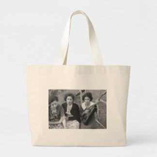 Creole Girls in Louisiana, 1930s Large Tote Bag