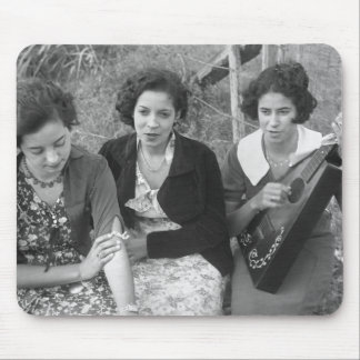 Creole Girls in Louisiana, 1930s Mouse Pad