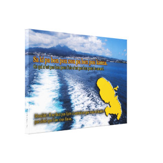Creole proverb of Martinique Gallery Wrapped Canvas