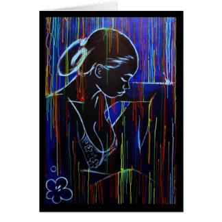 Creole Rain - Blue Greeting Card
