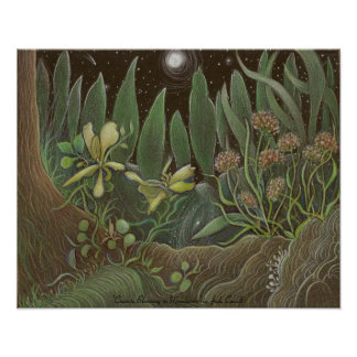 Creosote Blooming art poster