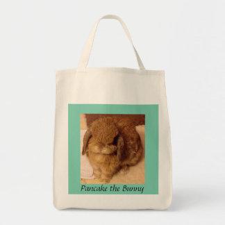 Crepe el bolso de ultramarinos del conejito bolsa tela para la compra