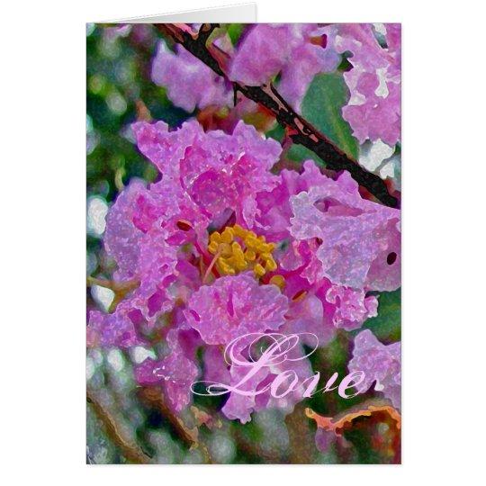 Crepe Myrtle Love Card