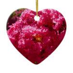 Crepe Myrtle Tree Magenta Flowers Ceramic Ornament
