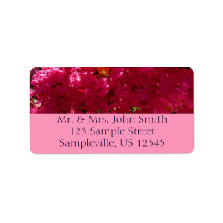 Crepe Myrtle Tree Magenta Flowers Label